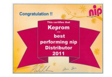 Kompanija Keprom distributer godine za brend NIP