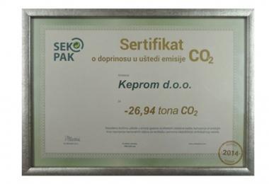 Kompanija Keprom dobila sertifikat o umanjenju emisije CO2