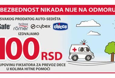 Kompanija Keprom nastavlja akciju nabavke fiksatora za kola Hitne pomoći