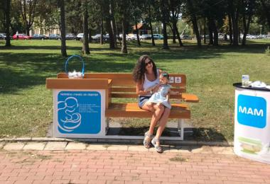 Deveta MAM klupa za dojenje postavljena u Kragujevcu