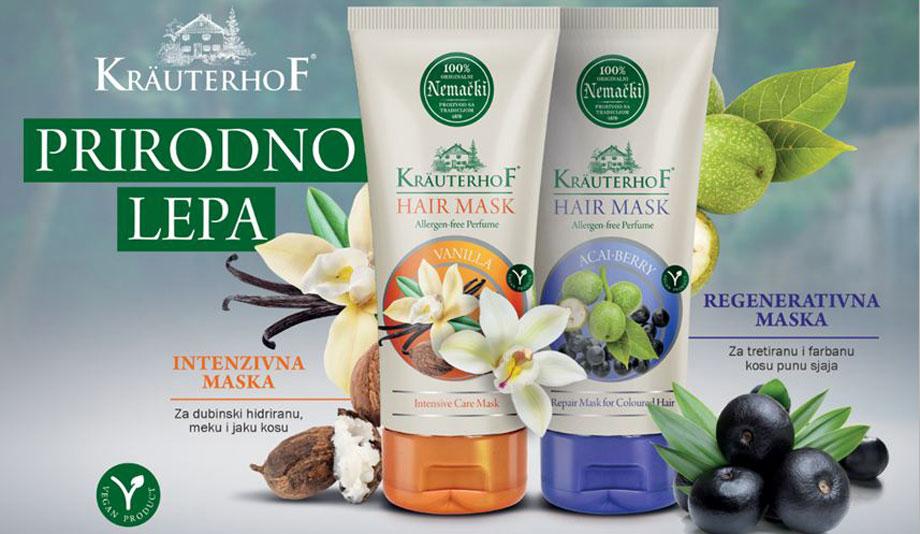 Kräuterhof maske za kosu - novi proizvodi u ponudi kompanije Keprom